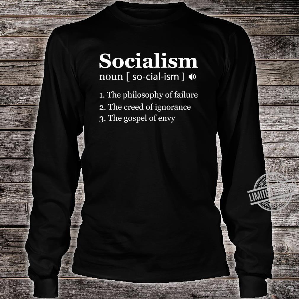 Anti Socialism Shirt Winston Churchill Quote Shirt long sleeved