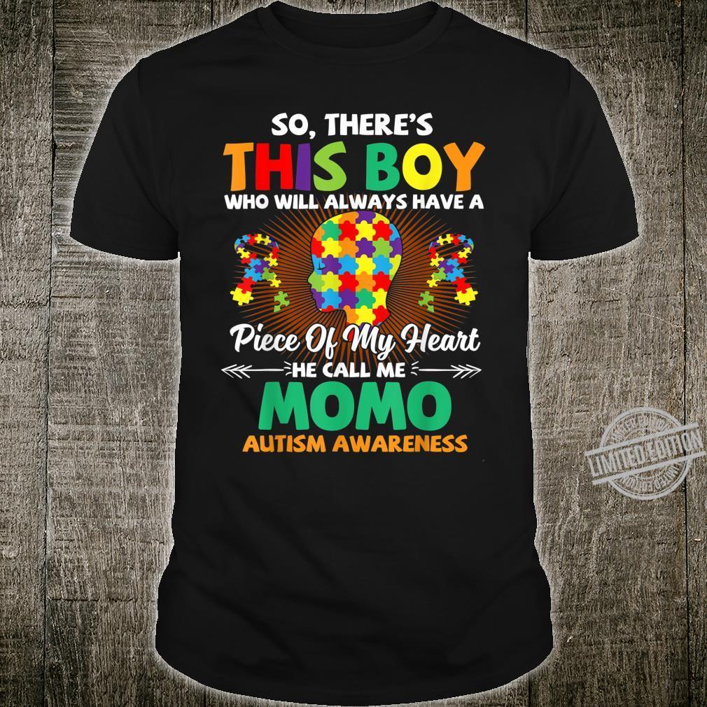 Autism Awareness Shirt A Piece Of My Heart Call Me Momo Shirt