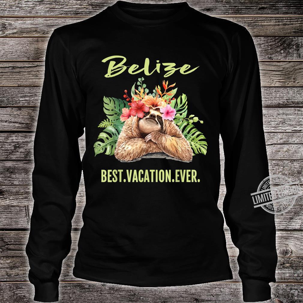 Belize Best Vacation Ever Souvenir Shirt long sleeved
