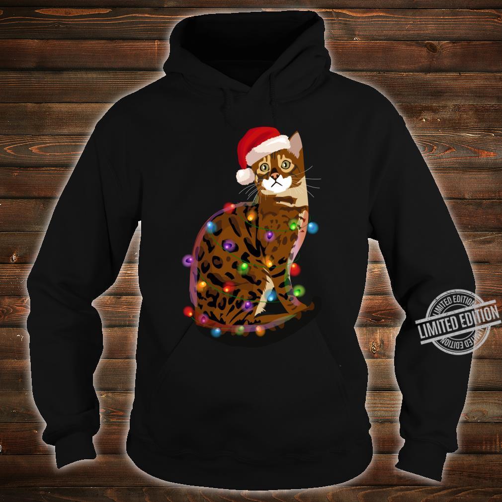 Bengal Cat Christmas Lights Xmas Cat Shirt hoodie