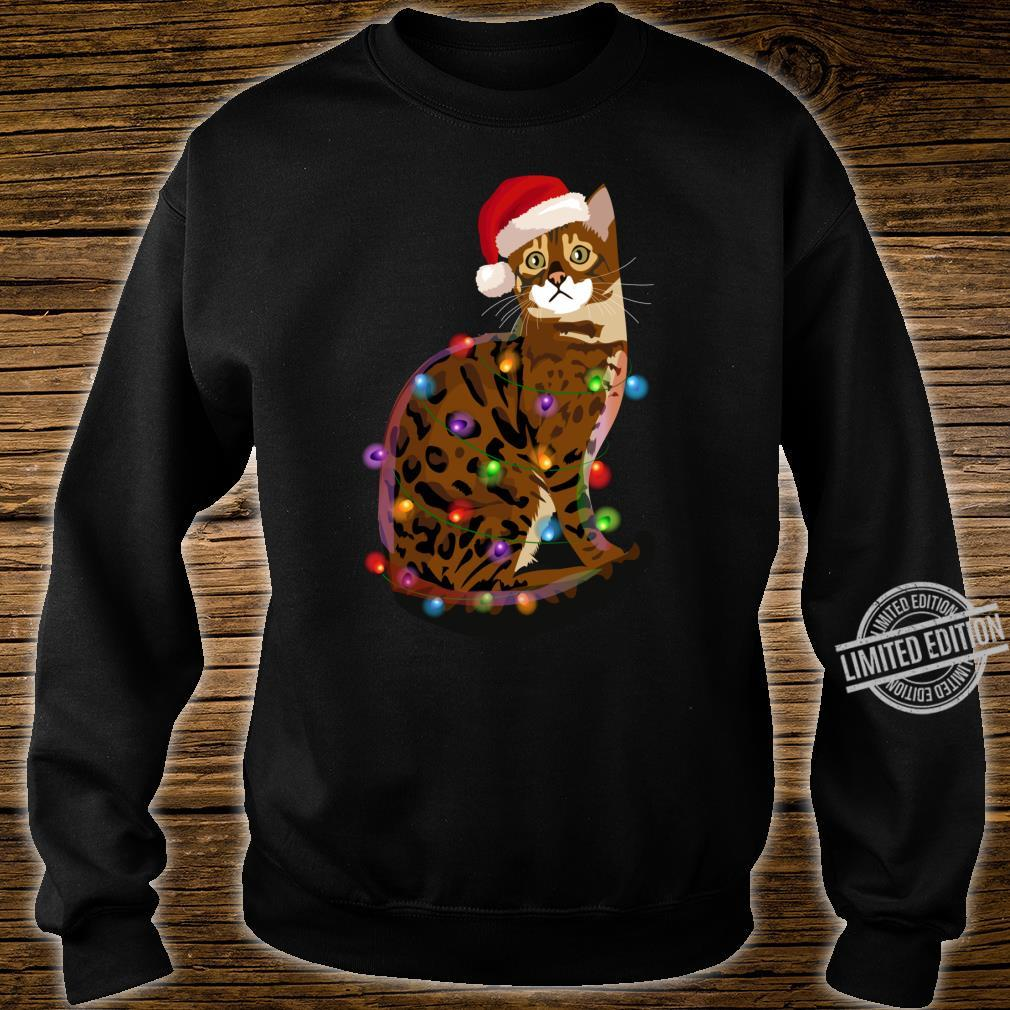 Bengal Cat Christmas Lights Xmas Cat Shirt sweater