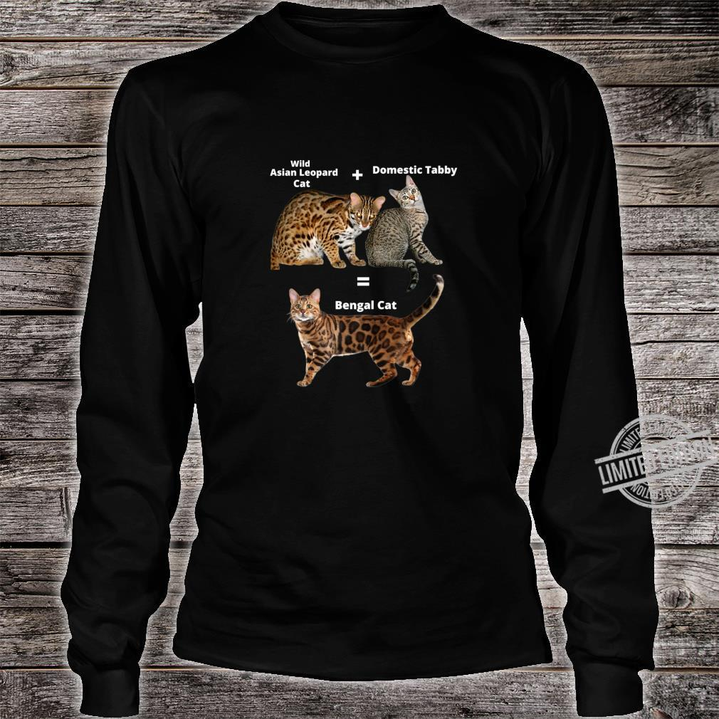 Bengal Cat Shirt long sleeved
