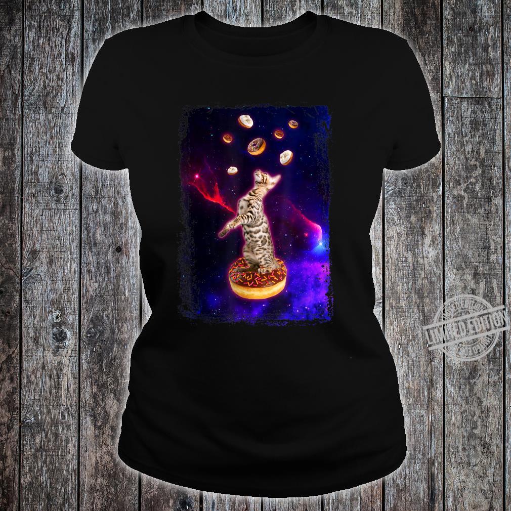 Bengal Cat in Space Ocicat Kitty in Space Shirt ladies tee