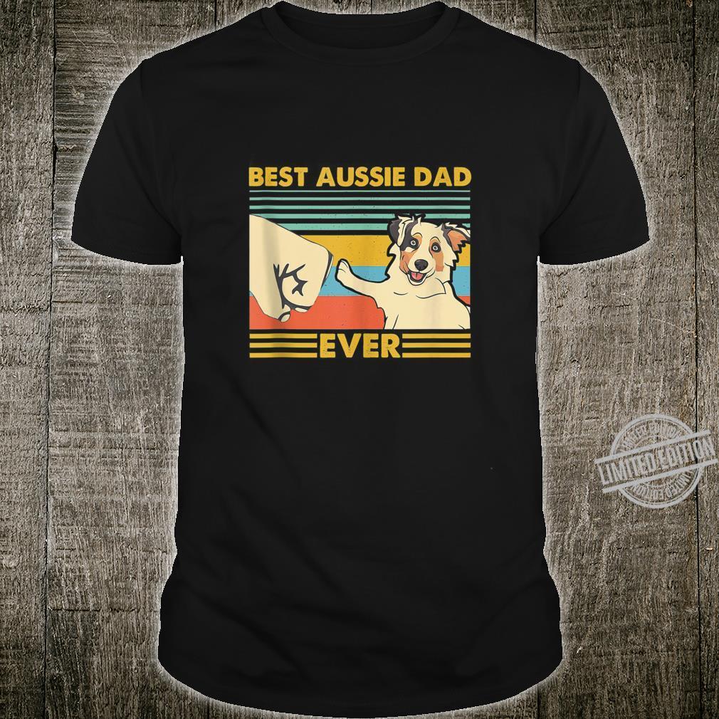 Best Aussie Dad Ever Retro Vintage Sunset Shirt