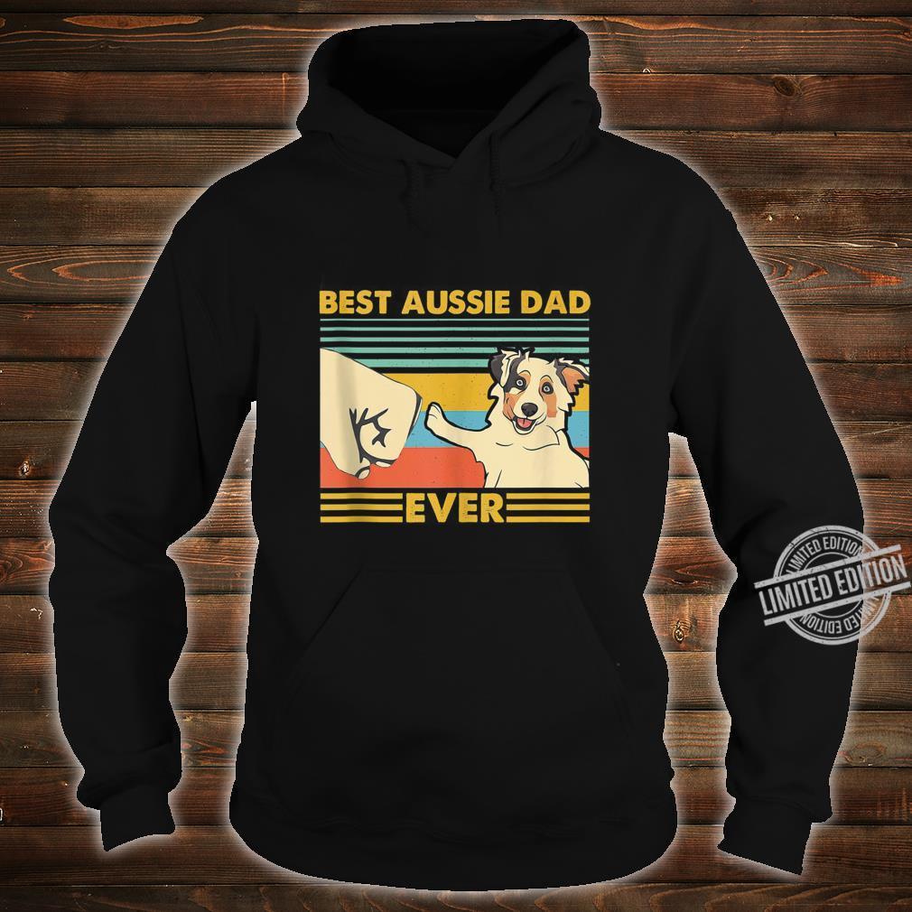 Best Aussie Dad Ever Retro Vintage Sunset Shirt hoodie