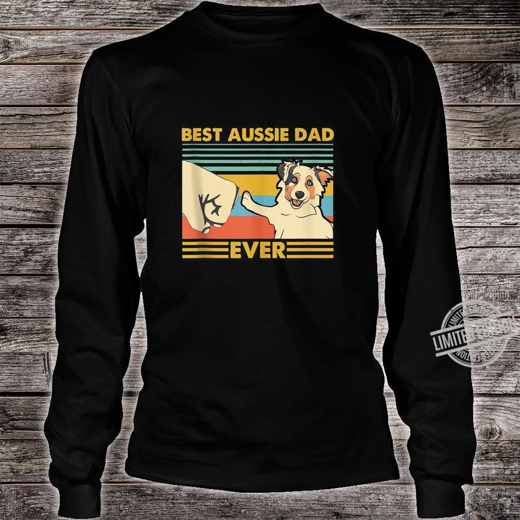 Best Aussie Dad Ever Retro Vintage Sunset Shirt long sleeved