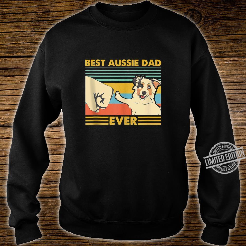 Best Aussie Dad Ever Retro Vintage Sunset Shirt sweater