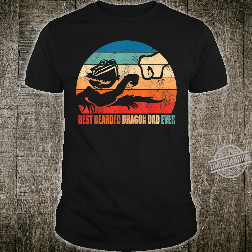 Best Bearded Dragon Dad Ever Fist Bump Son Daughter Shirt
