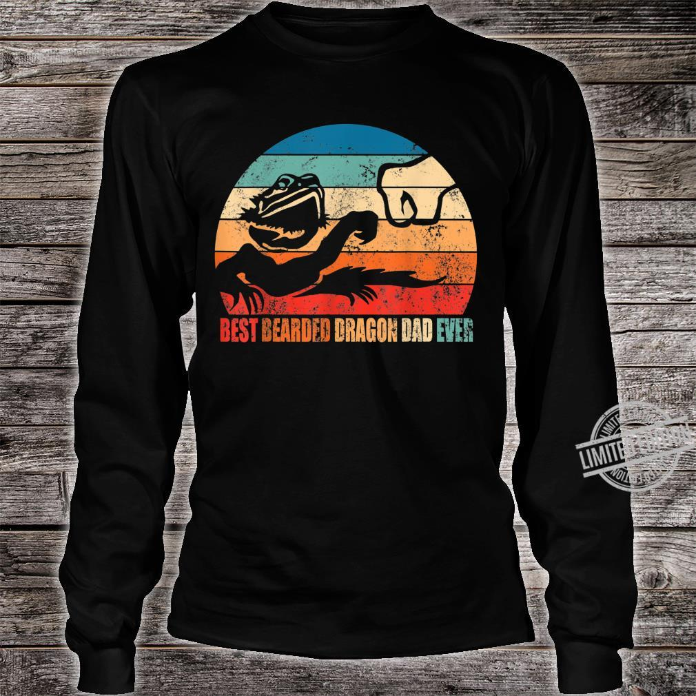 Best Bearded Dragon Dad Ever Fist Bump Son Daughter Shirt long sleeved