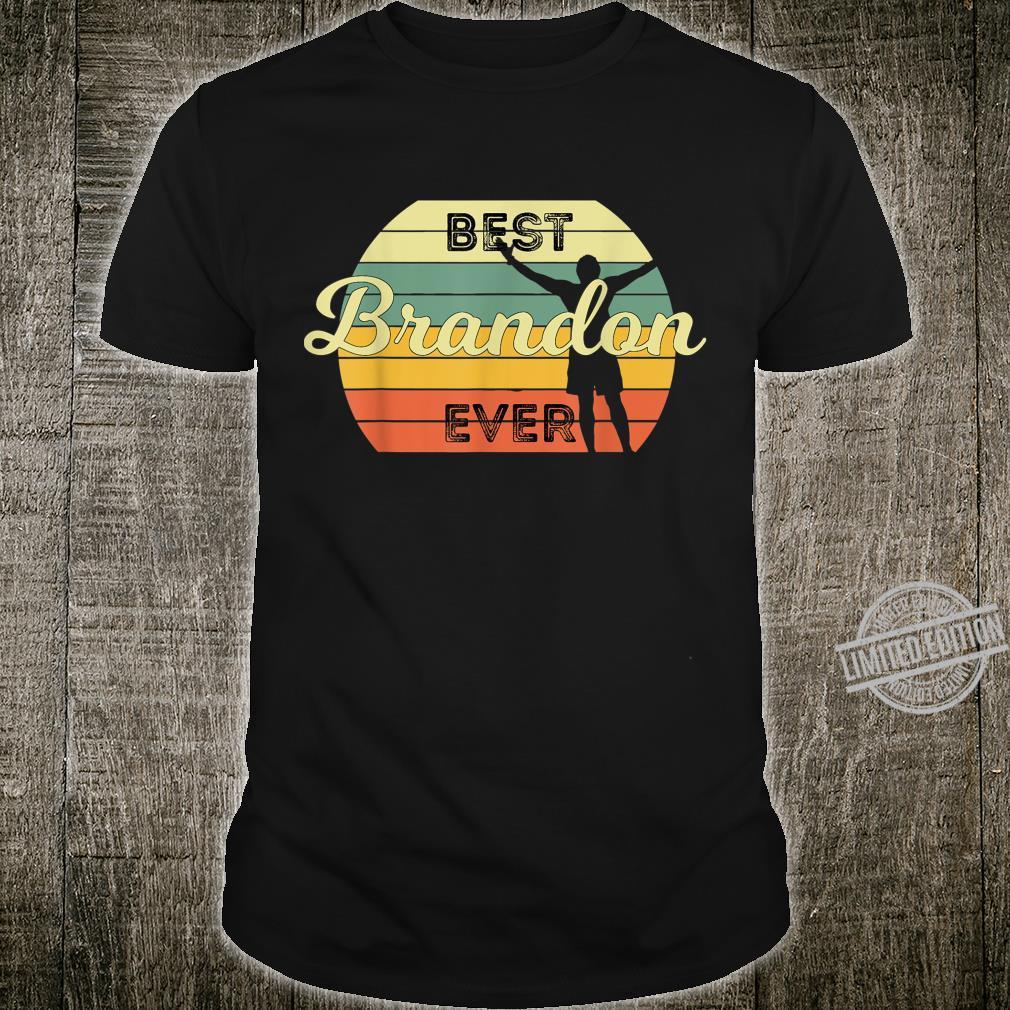 Best Brandon Ever Retro Birthday 70s Design Shirt