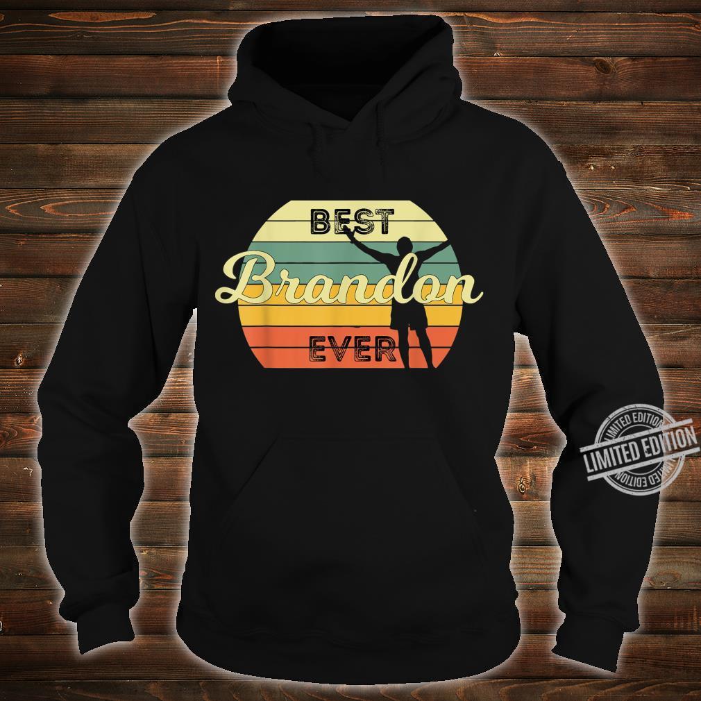 Best Brandon Ever Retro Birthday 70s Design Shirt hoodie