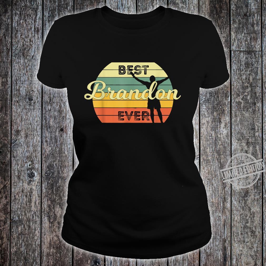 Best Brandon Ever Retro Birthday 70s Design Shirt ladies tee