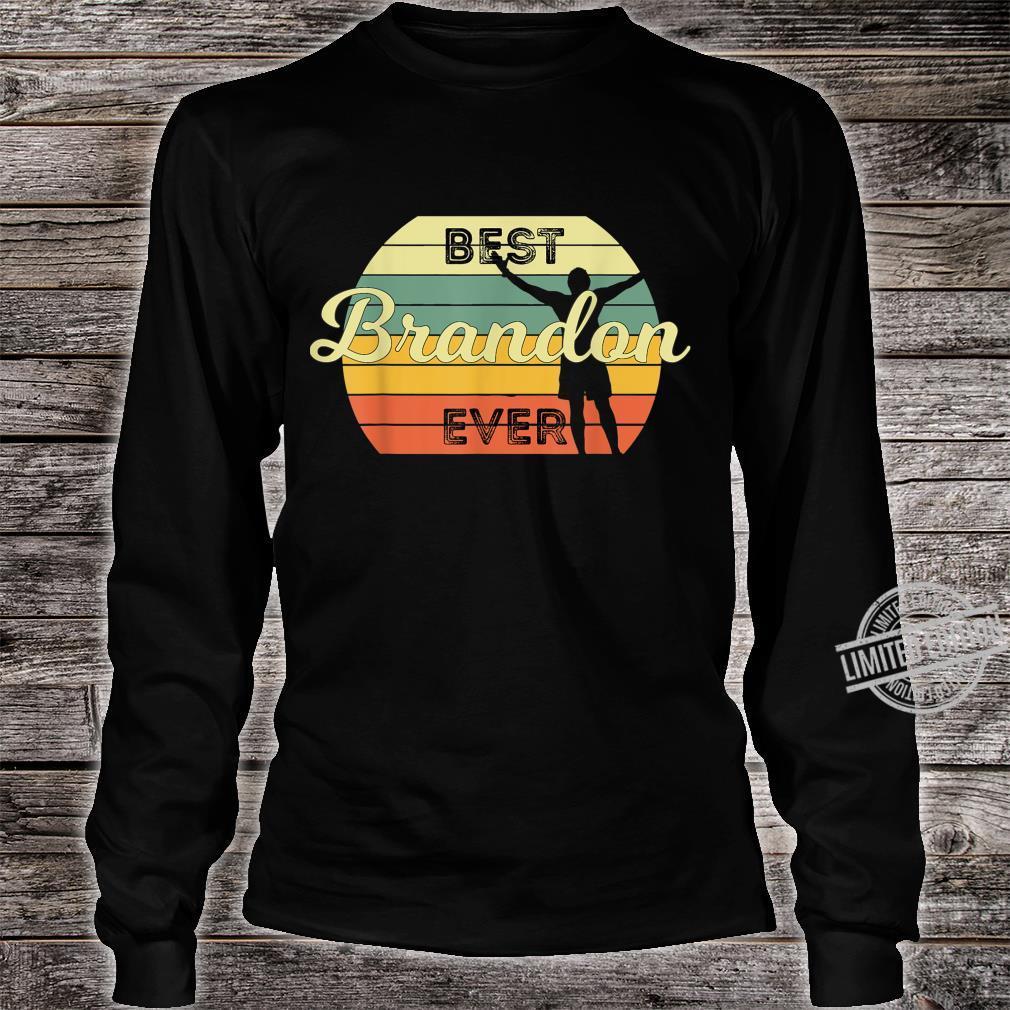 Best Brandon Ever Retro Birthday 70s Design Shirt long sleeved