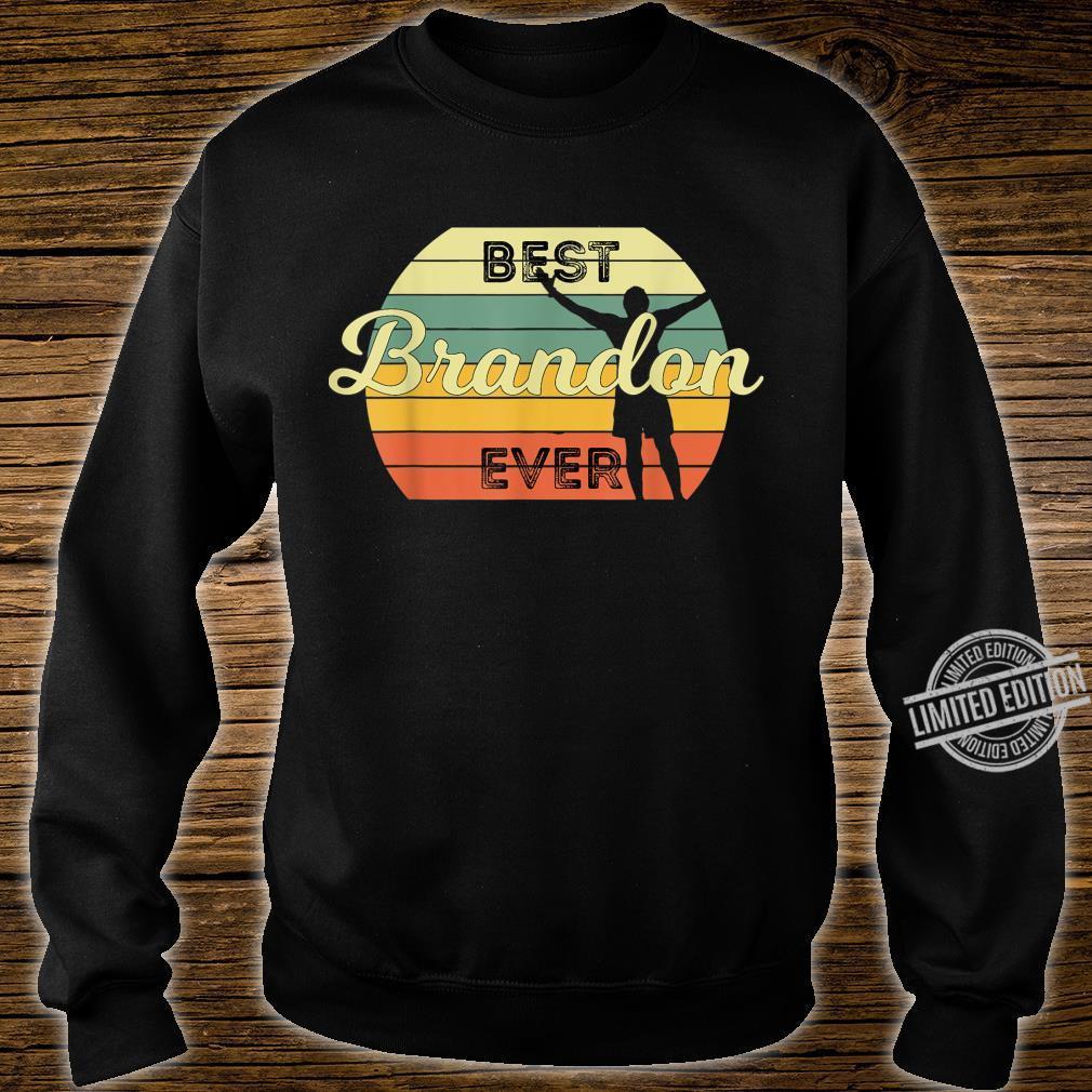 Best Brandon Ever Retro Birthday 70s Design Shirt sweater