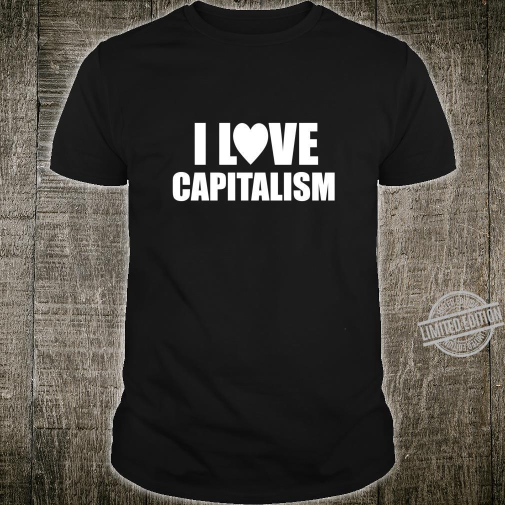 Kapitalismus Geschenk Capitalism Kapitalist Aktien Spruch Shirt