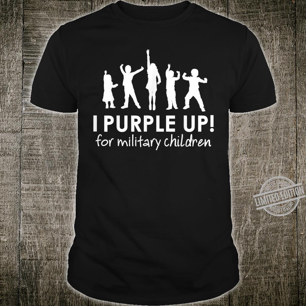 Purple Up Month Of Military Child Awareness Shirt