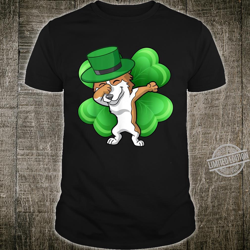 St Patricks Day Dabbing Corgi Dog Leprechaun Shirt