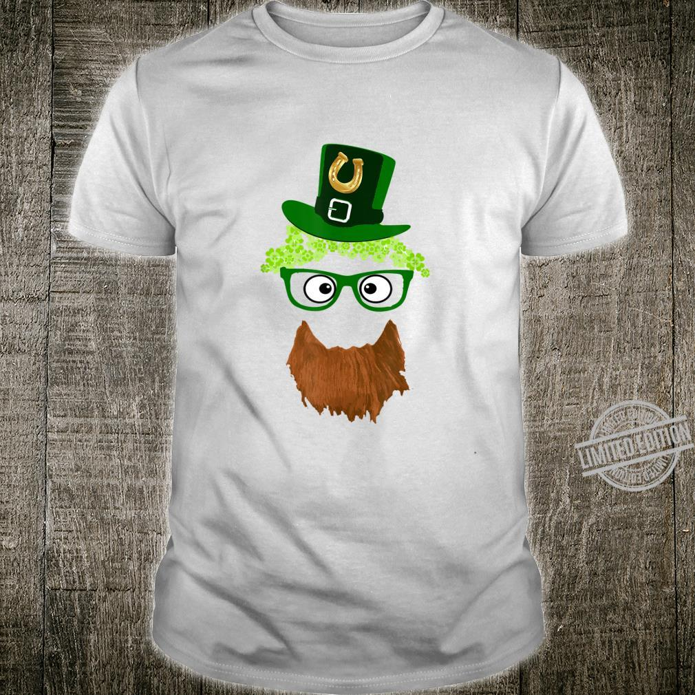 St. Patrick's day face glassed hat Shirt