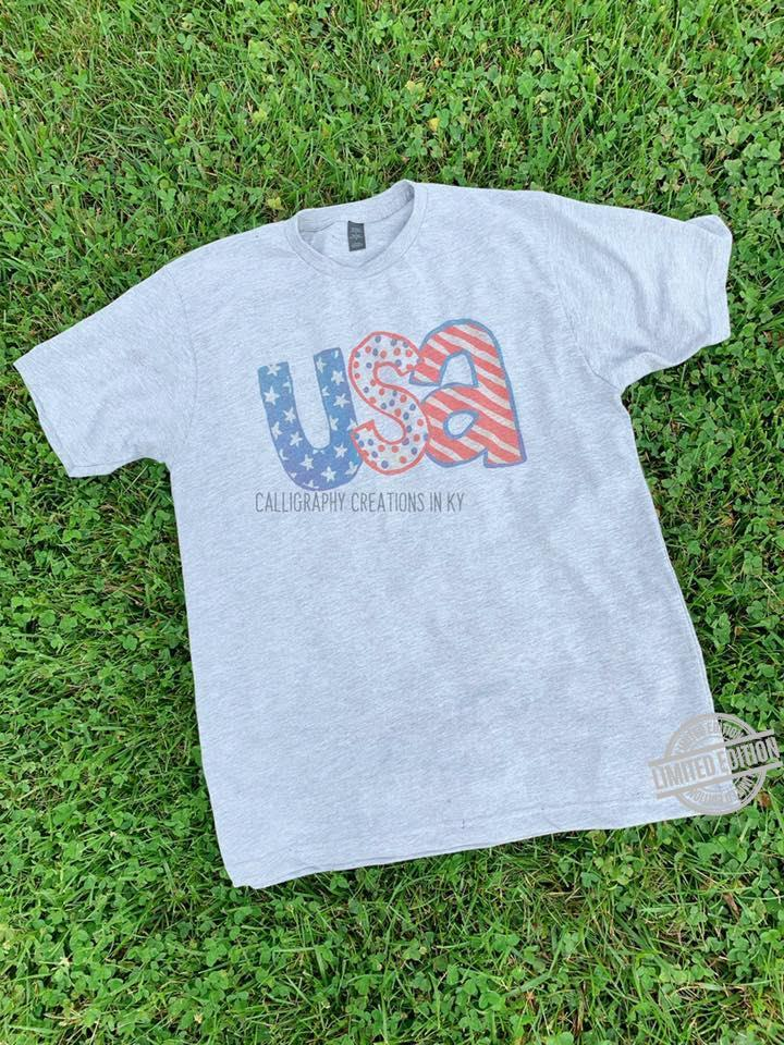 USA Calligraphy Creations In Ky Shirt